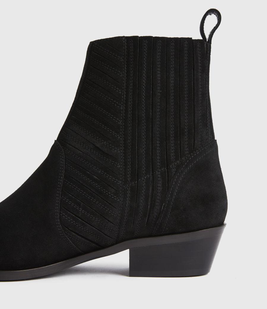 Women's Fion Suede Boots (black) - Image 4