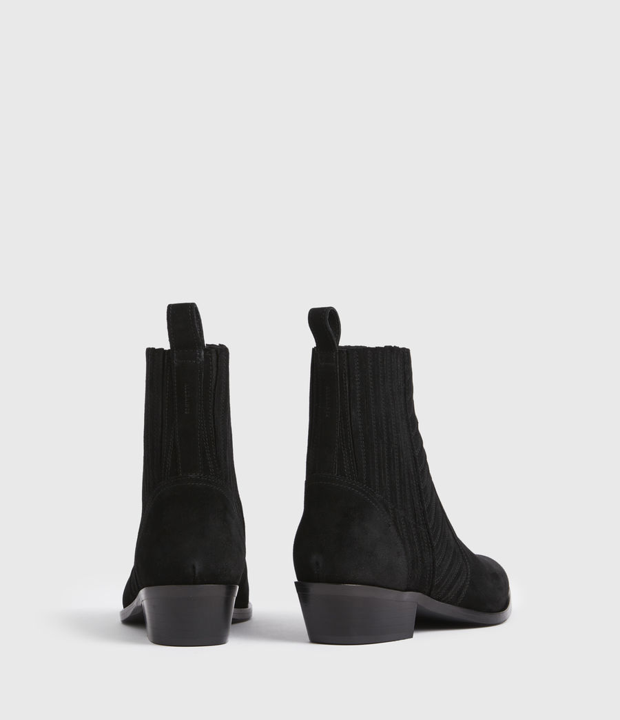 Women's Fion Suede Boots (black) - Image 5