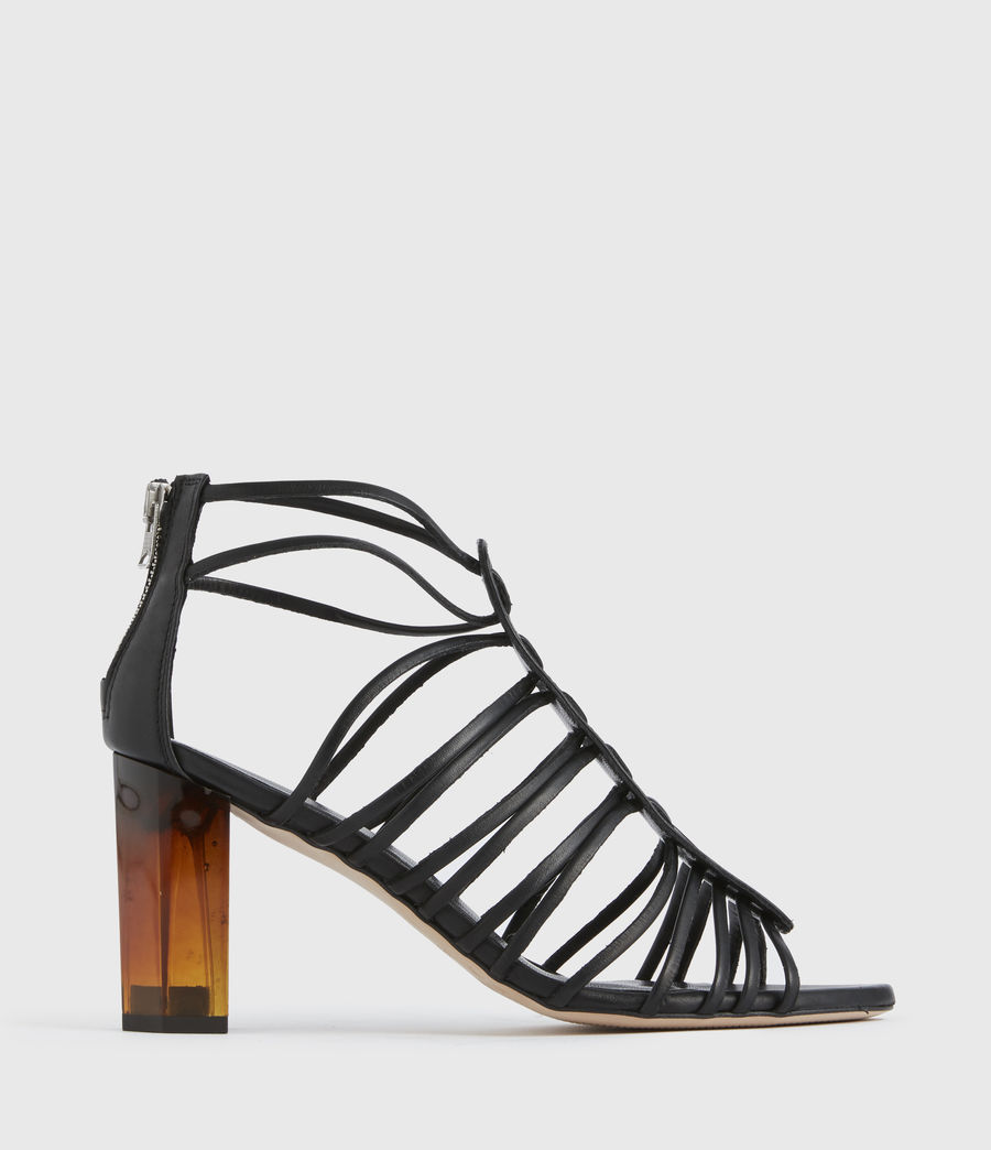 Mujer Pia Leather Sandals (black) - Image 1