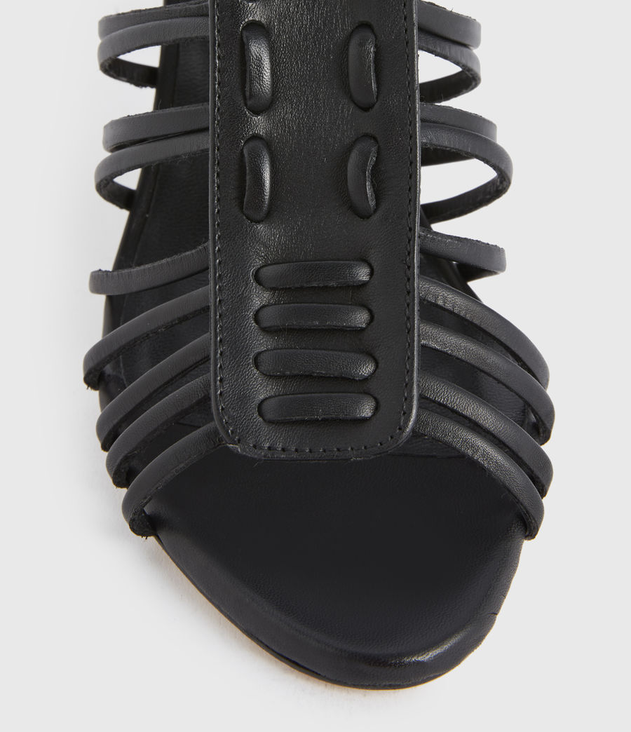 Mujer Pia Leather Sandals (black) - Image 2