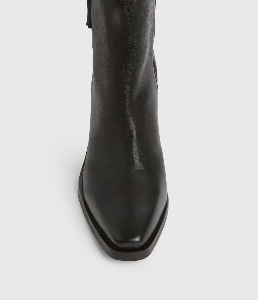 Womens Cohen Leather Boots (black) - Image 2