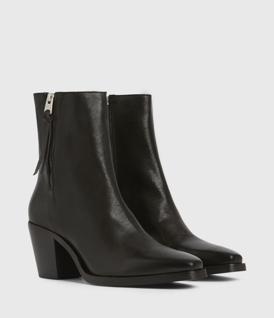 Womens Cohen Leather Boots (black) - Image 3