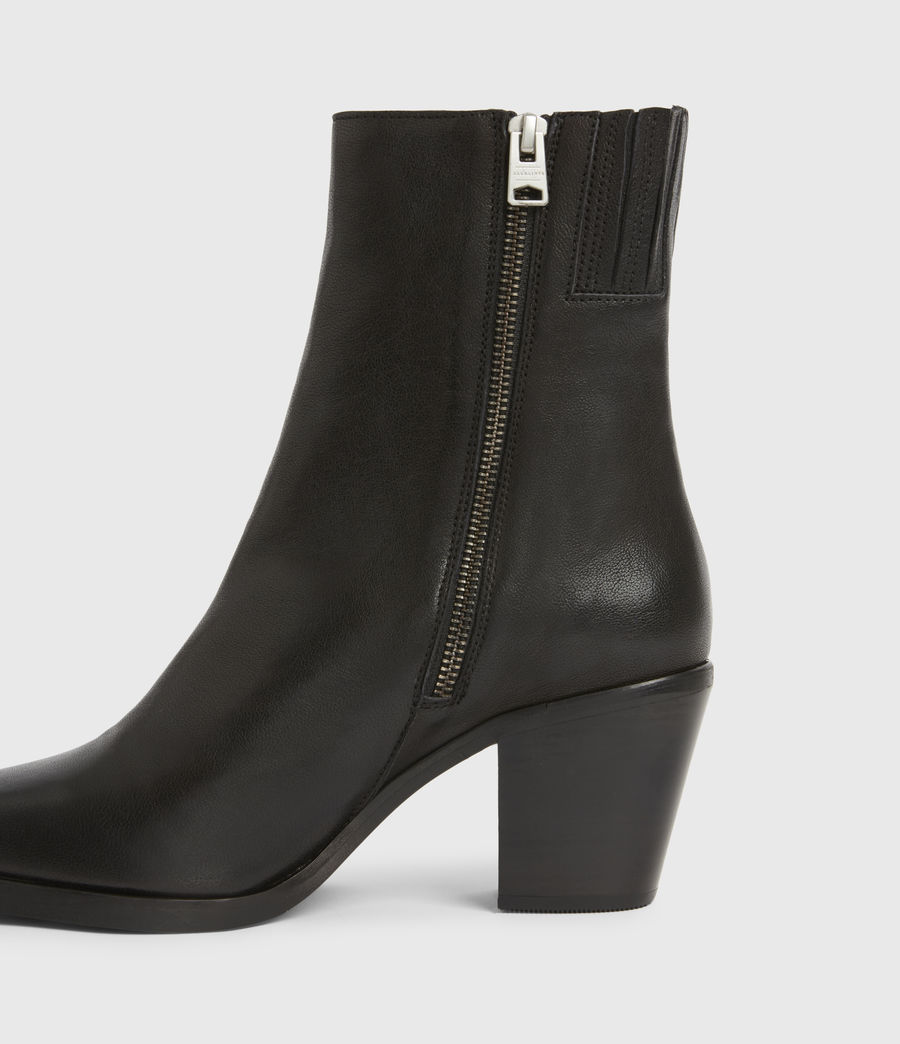 Womens Cohen Leather Boots (black) - Image 4