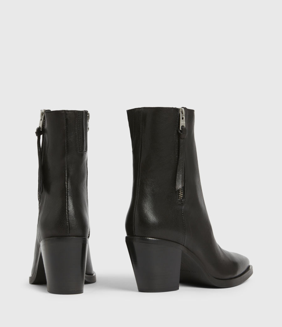Womens Cohen Leather Boots (black) - Image 5