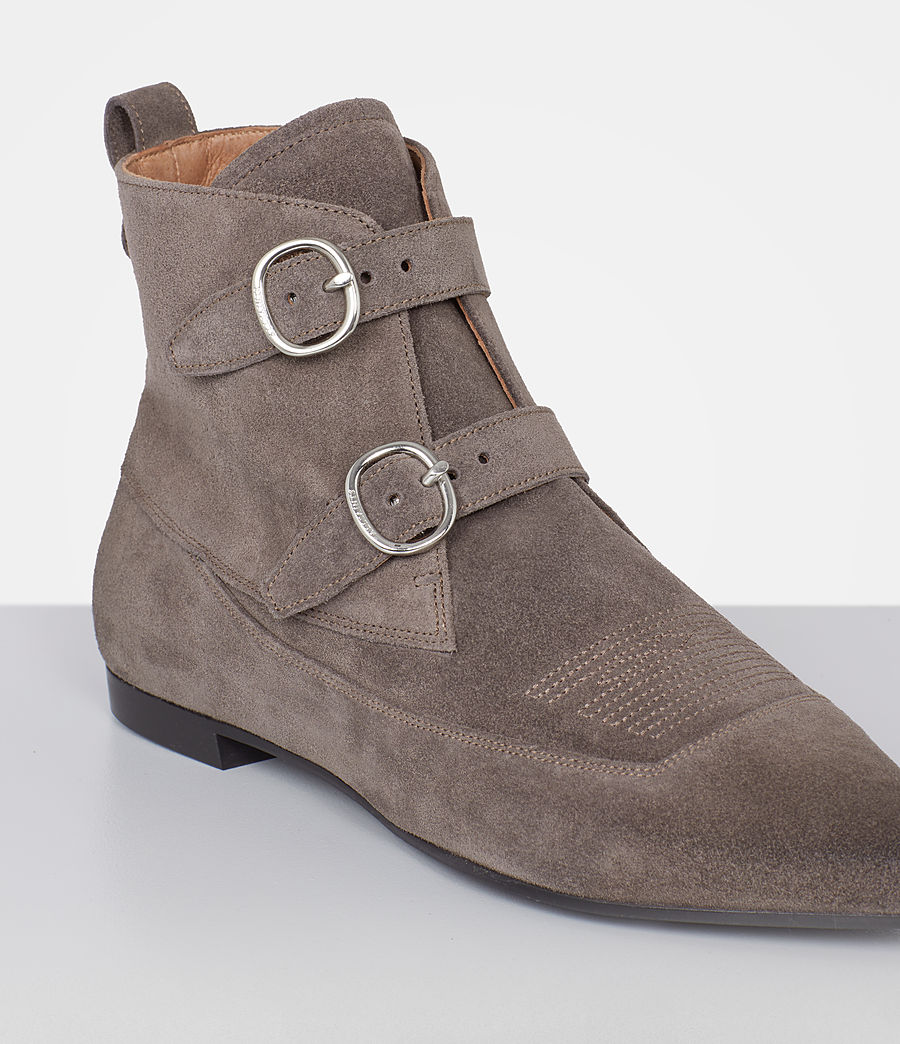 Femmes Bottines en cuir velours Viv (wood_brown) - Image 3