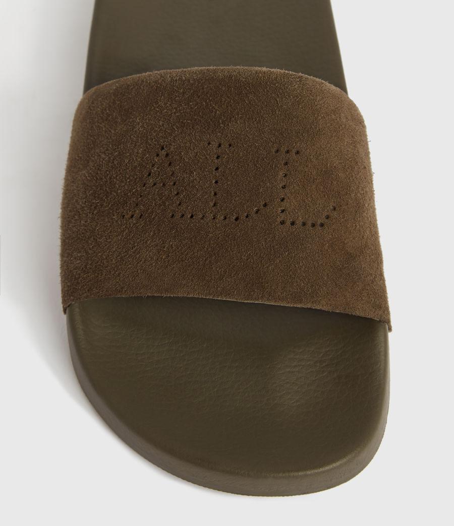 Mujer Karli Suede Slides (khaki) - Image 2