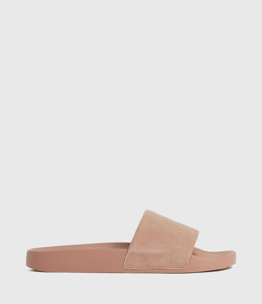 Women's Karli Suede Sliders (blush_pink) - Image 1