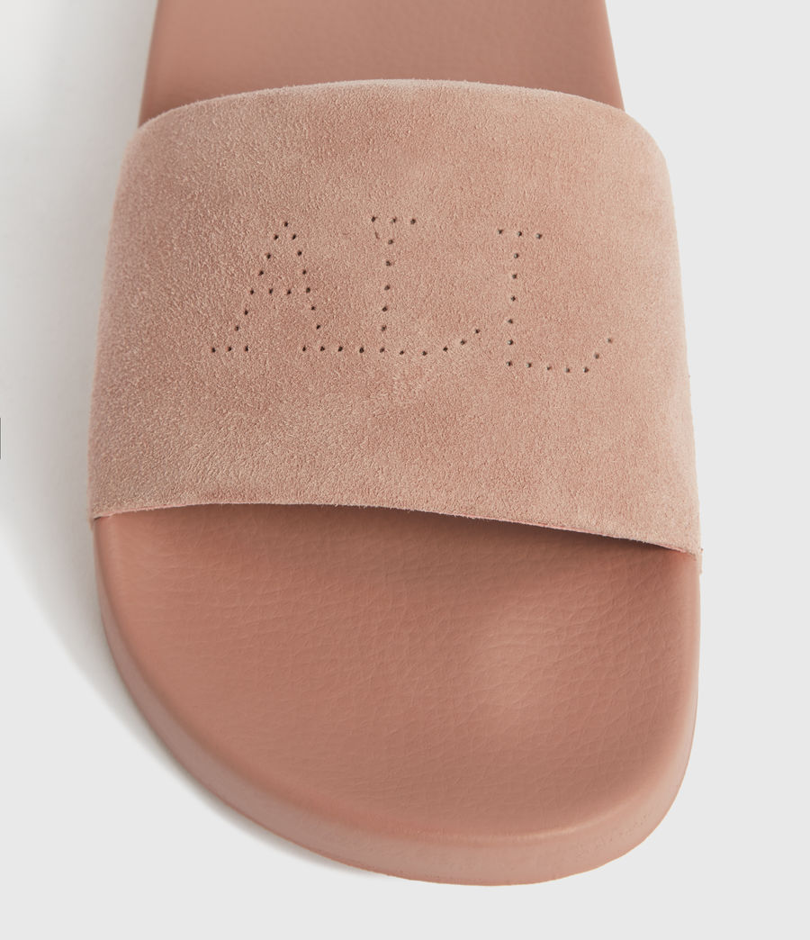 Women's Karli Suede Sliders (blush_pink) - Image 3