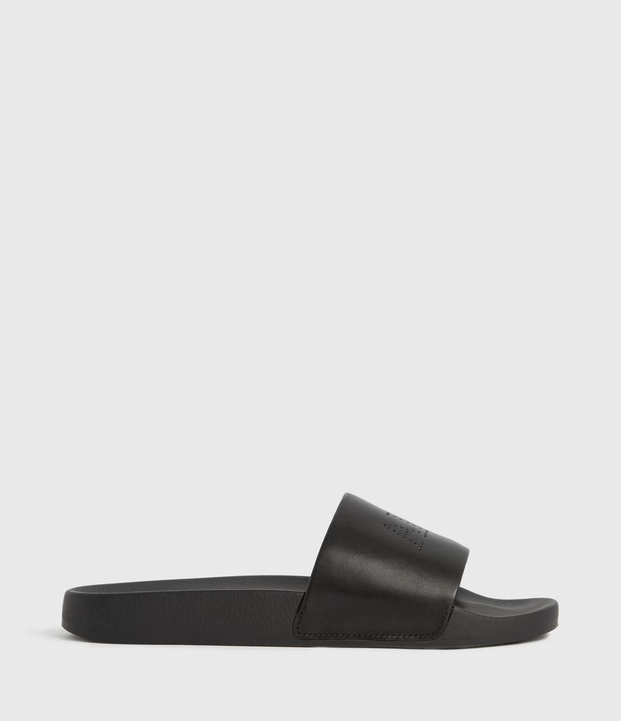 Womens Karli Leather Slides (black) - Image 1
