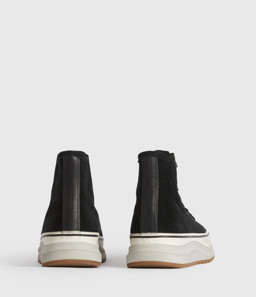 Damen Osun Run Suede Trainers (black) - Image 3