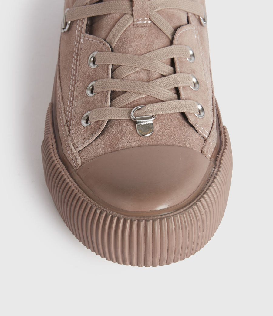 Womens Elena High Top Suede Sneakers (blush_pink) - Image 4