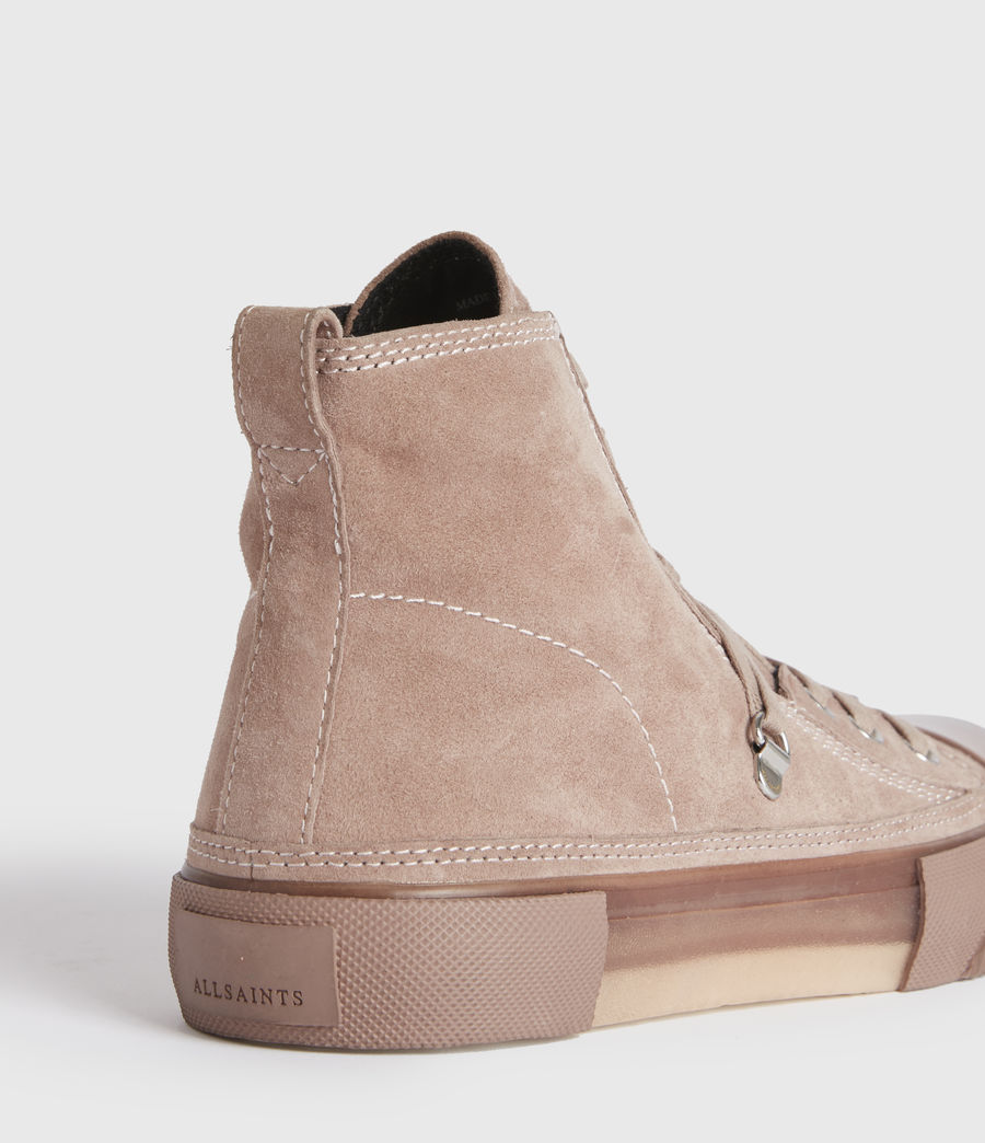 Mujer Elena High Top Suede Trainers (blush_pink) - Image 4
