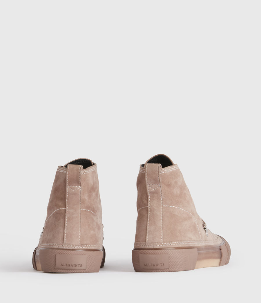 Mujer Elena High Top Suede Trainers (blush_pink) - Image 5