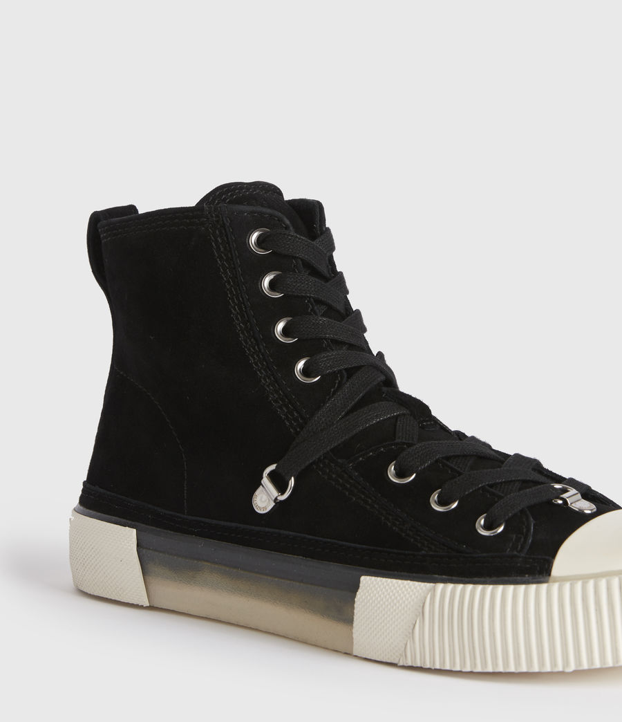 Damen Elena High Top Wildleder Sneaker (black) - Image 2