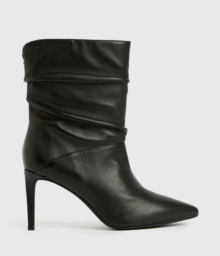 Femmes Olia Leather Boots (black) - Image 1