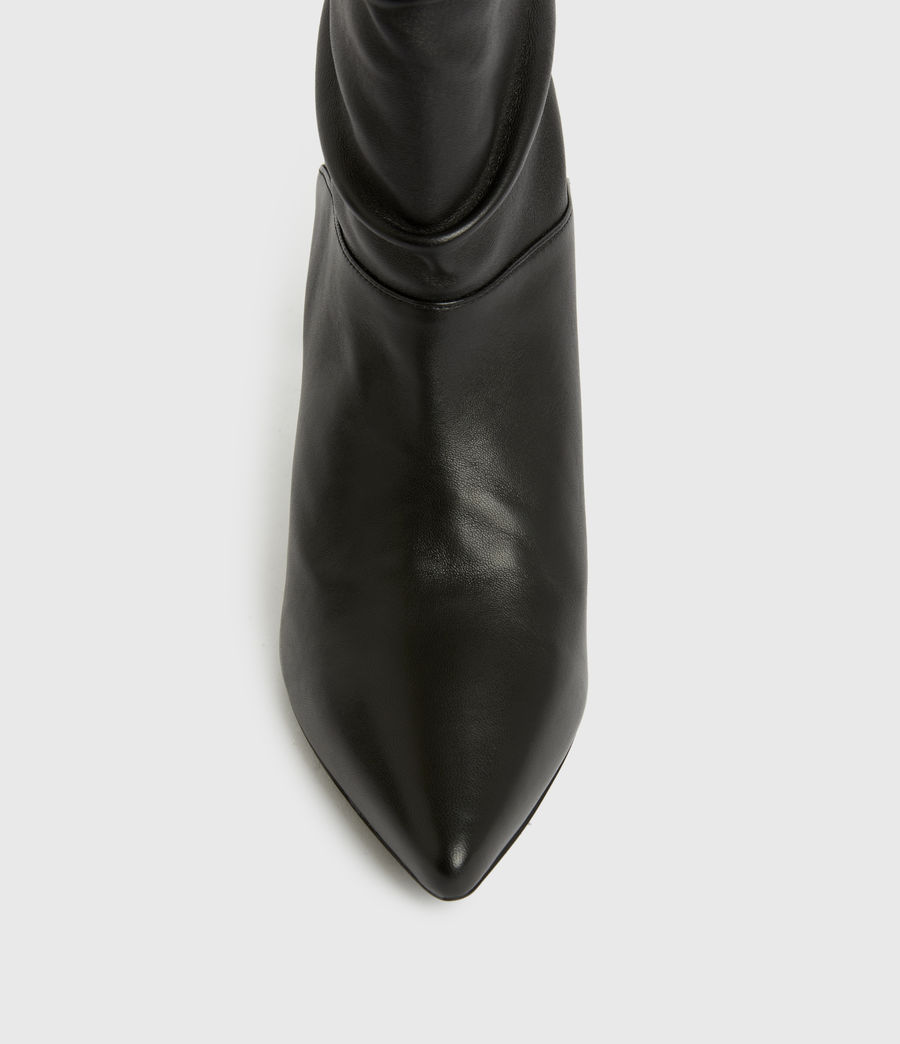 Femmes Olia Leather Boots (black) - Image 2