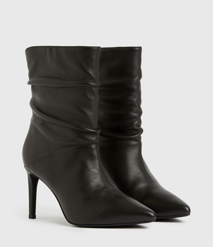 Femmes Olia Leather Boots (black) - Image 3