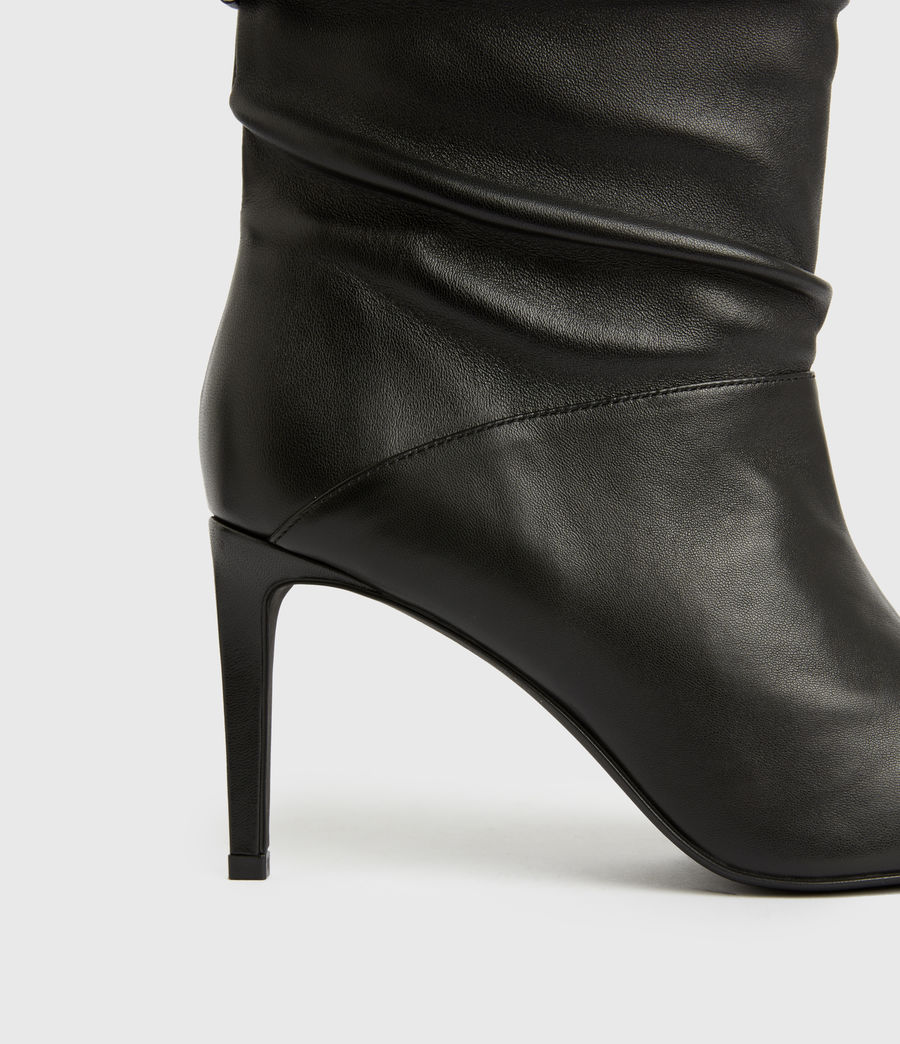 Femmes Olia Leather Boots (black) - Image 4