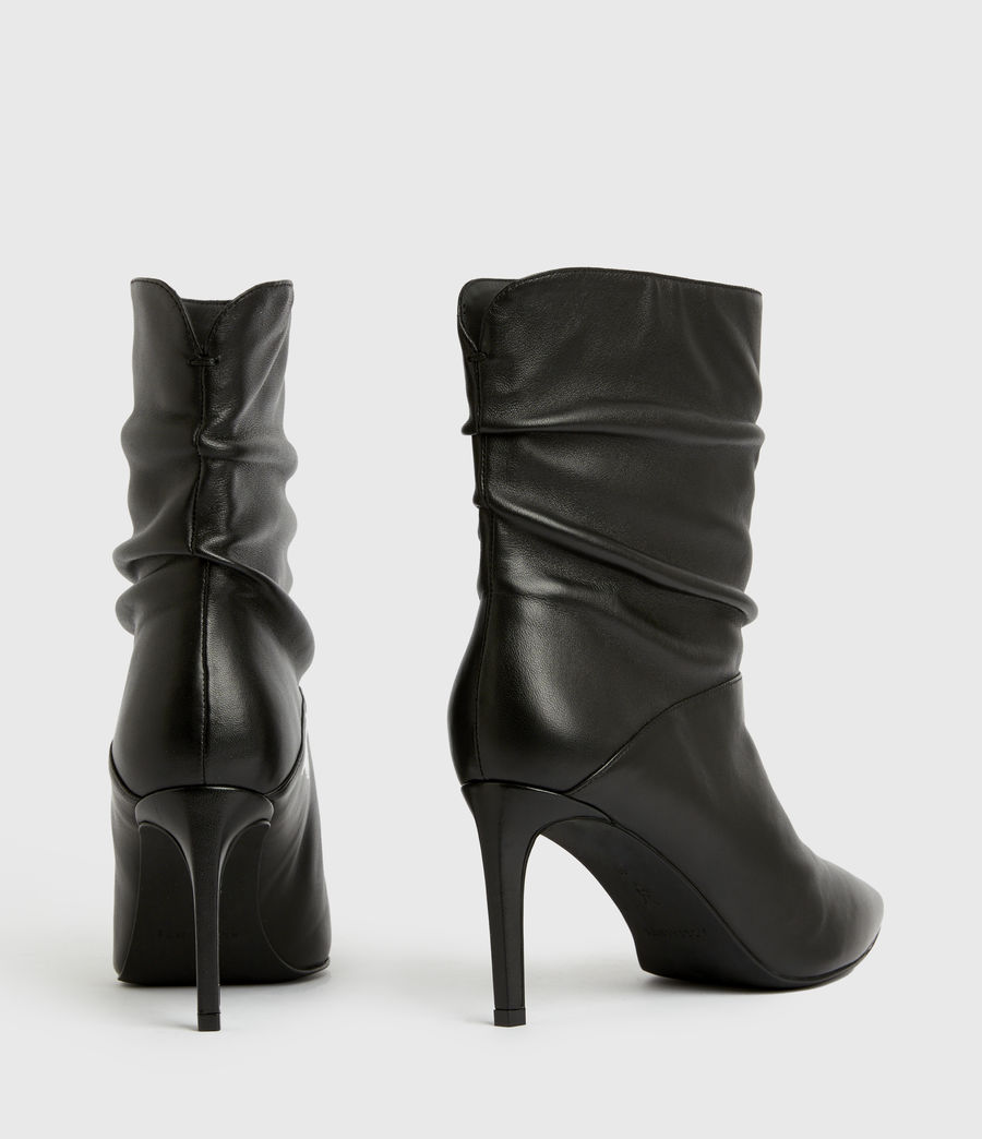 Femmes Olia Leather Boots (black) - Image 5
