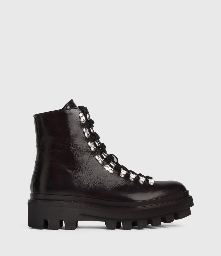 Women's Wanda Leather Boots (black) - Image 1
