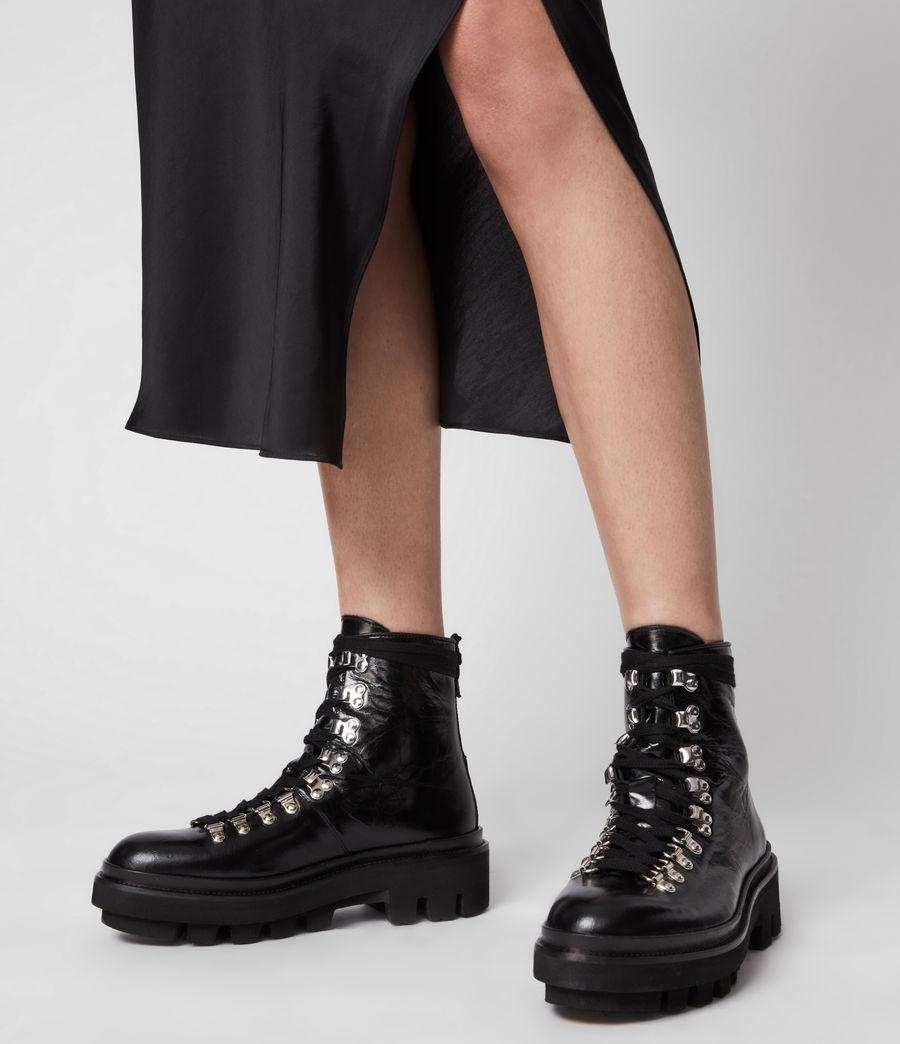 Women's Wanda Leather Boots (black) - Image 2