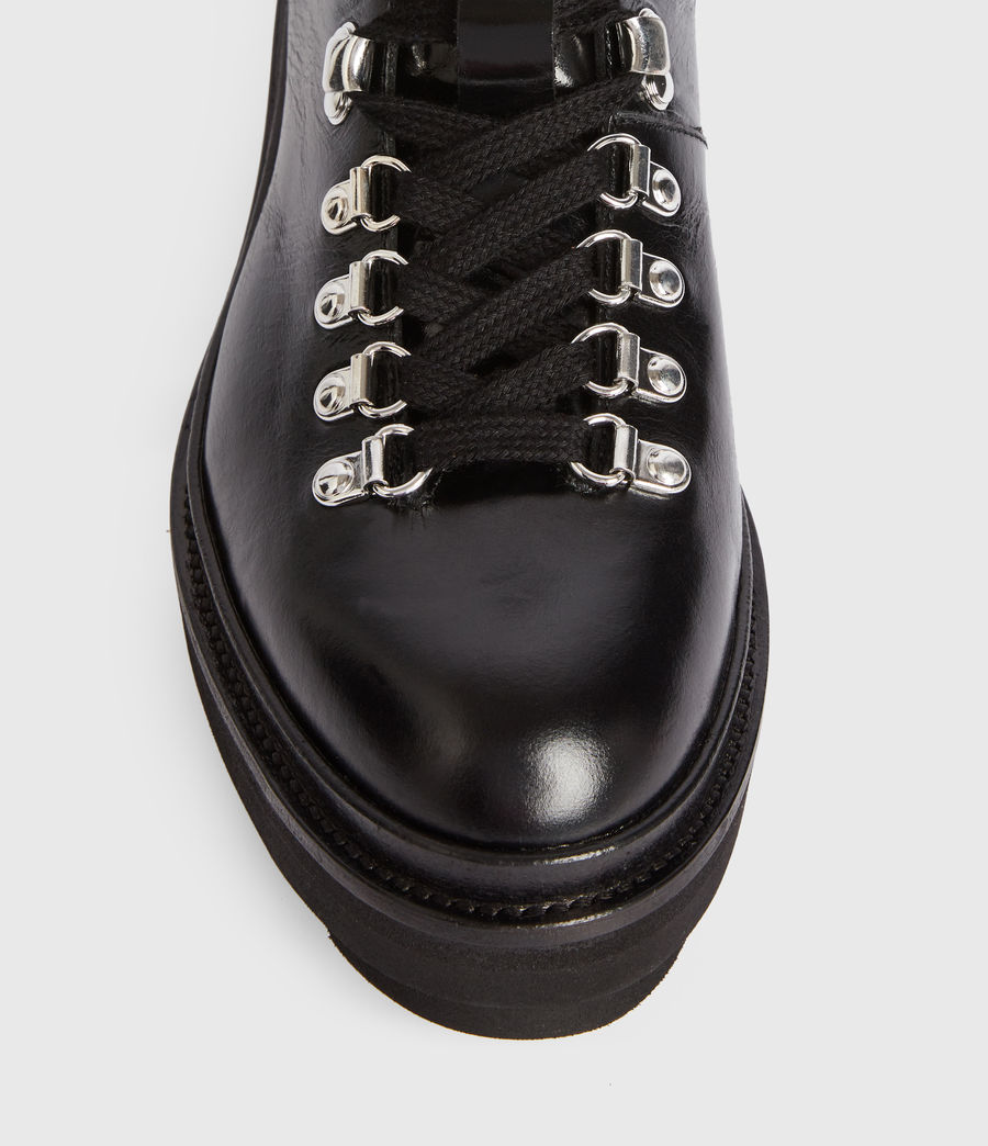 Women's Wanda Leather Boots (black) - Image 3