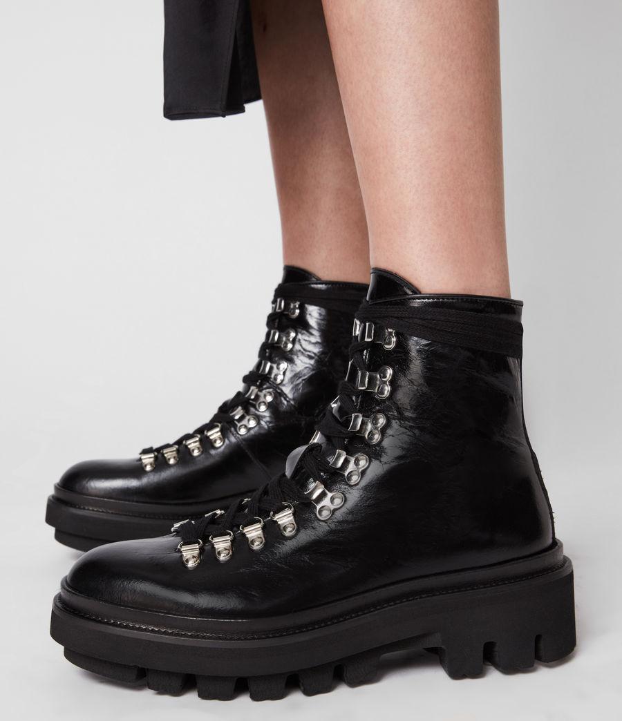 Women's Wanda Leather Boots (black) - Image 4