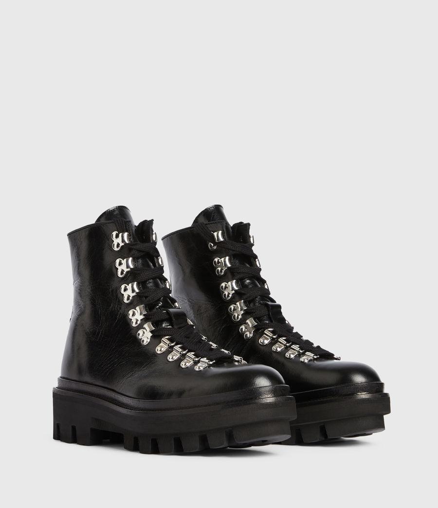 Women's Wanda Leather Boots (black) - Image 5