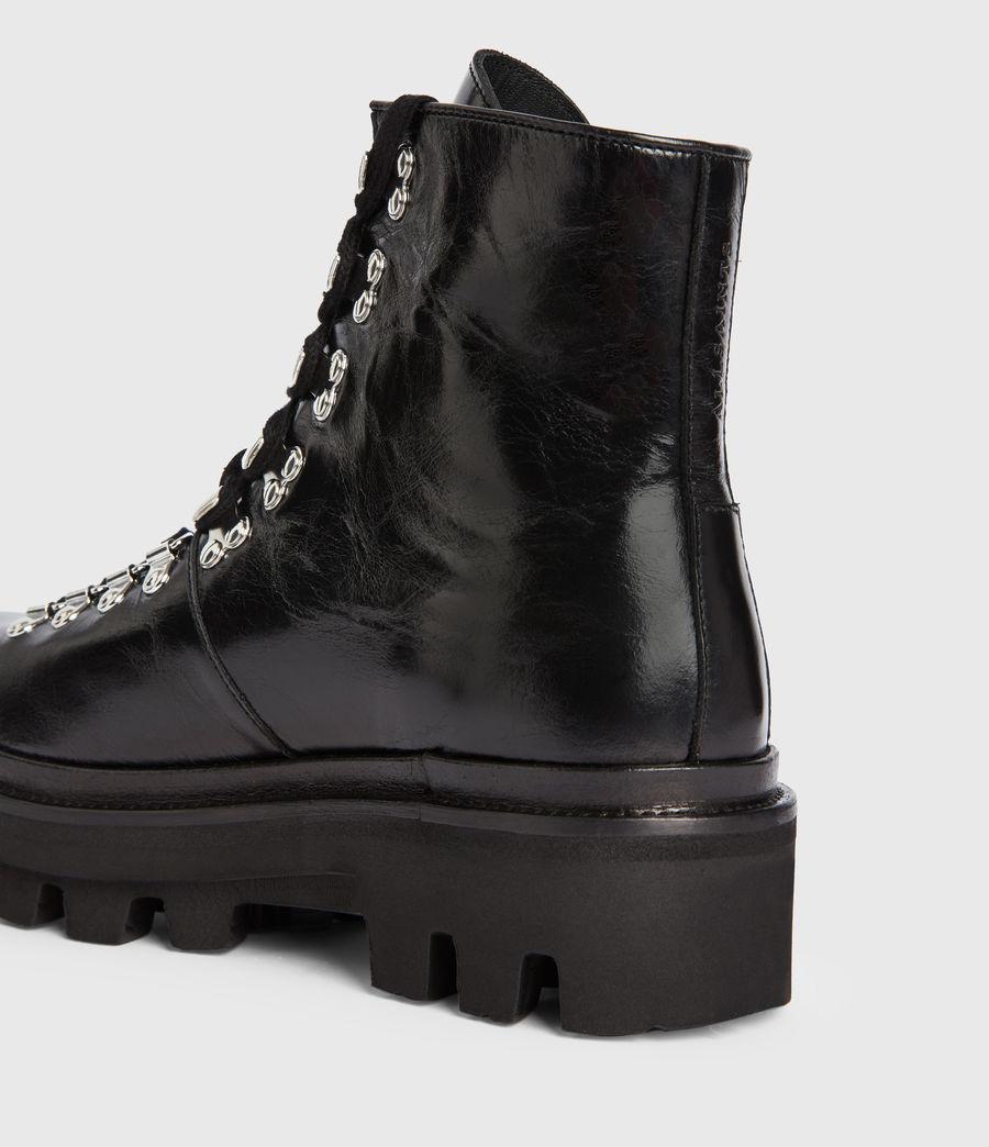 Women's Wanda Leather Boots (black) - Image 6
