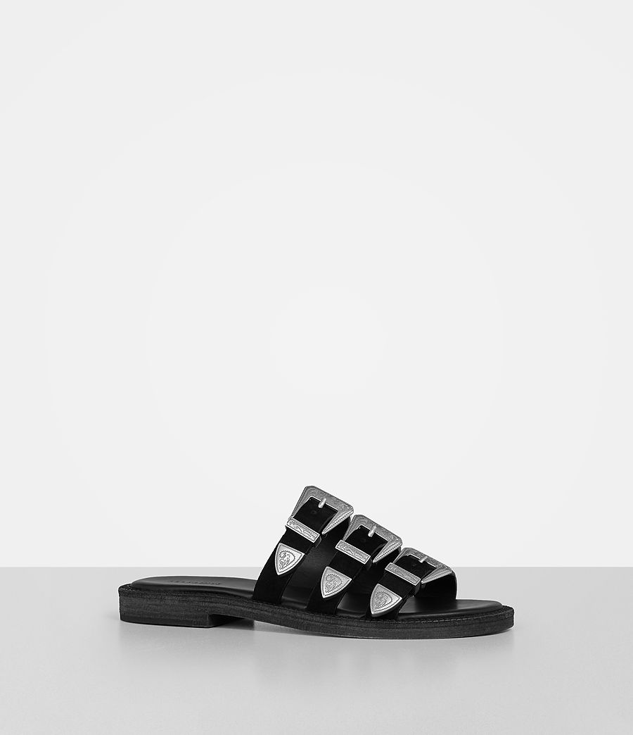 Womens Gianna Slide Sandal (black) - Image 2