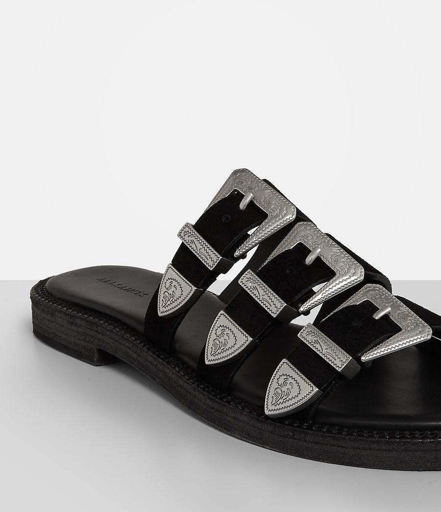 Womens Gianna Slide Sandal (black) - Image 3