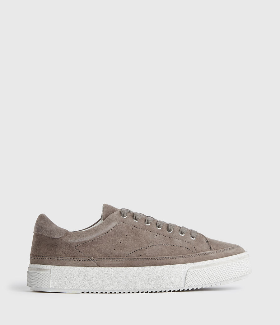 Women's Trish Suede Trainers (ash_grey) - Image 1