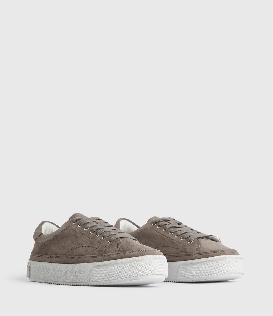 Women's Trish Suede Trainers (ash_grey) - Image 3