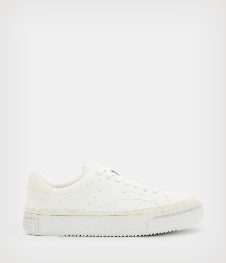 Women's Trish Leather Trainers (chalk_white) - Image 1