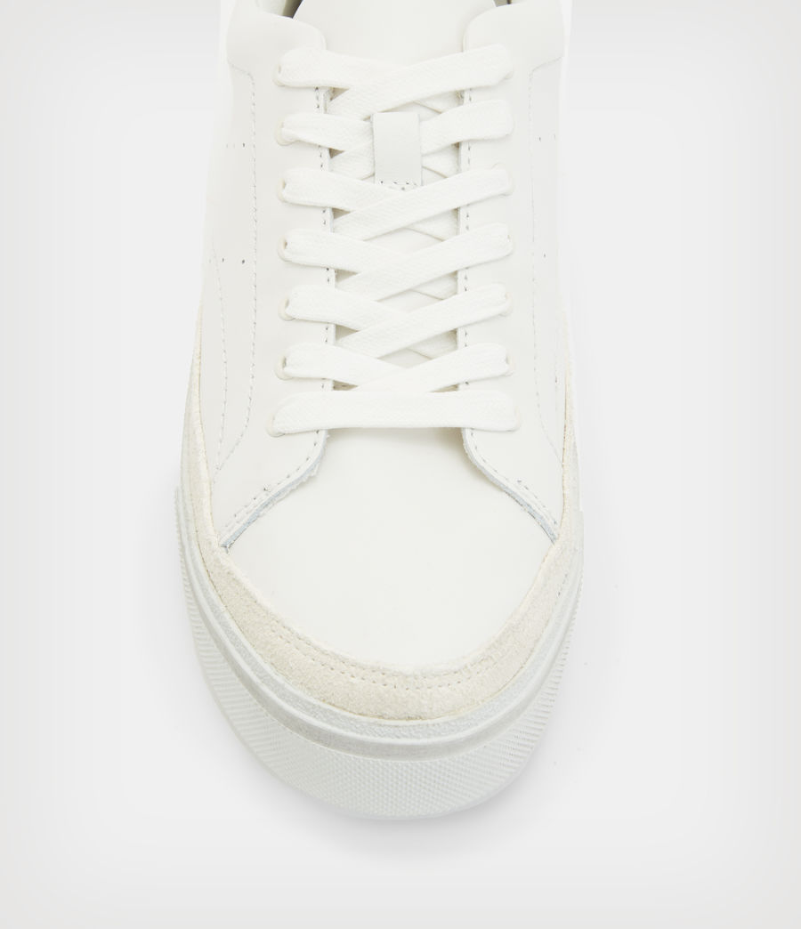 Womens Trish Leather Sneakers (chalk_white) - Image 3