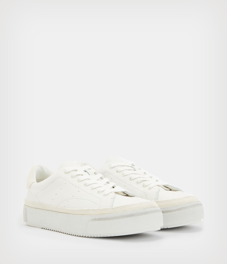 Women's Trish Leather Trainers (chalk_white) - Image 5