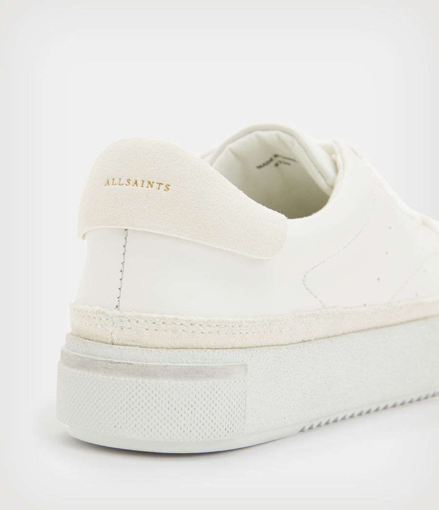 Womens Trish Leather Sneakers (chalk_white) - Image 6