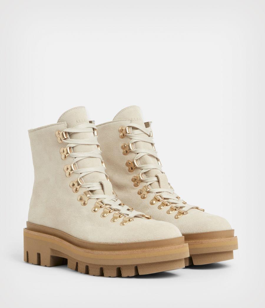 Women's Wanda Suede Boots (white) - Image 3