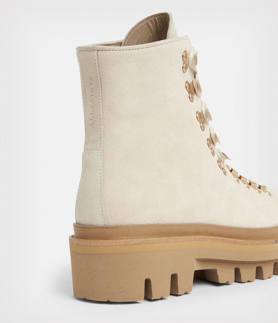 Women's Wanda Suede Boots (white) - Image 4