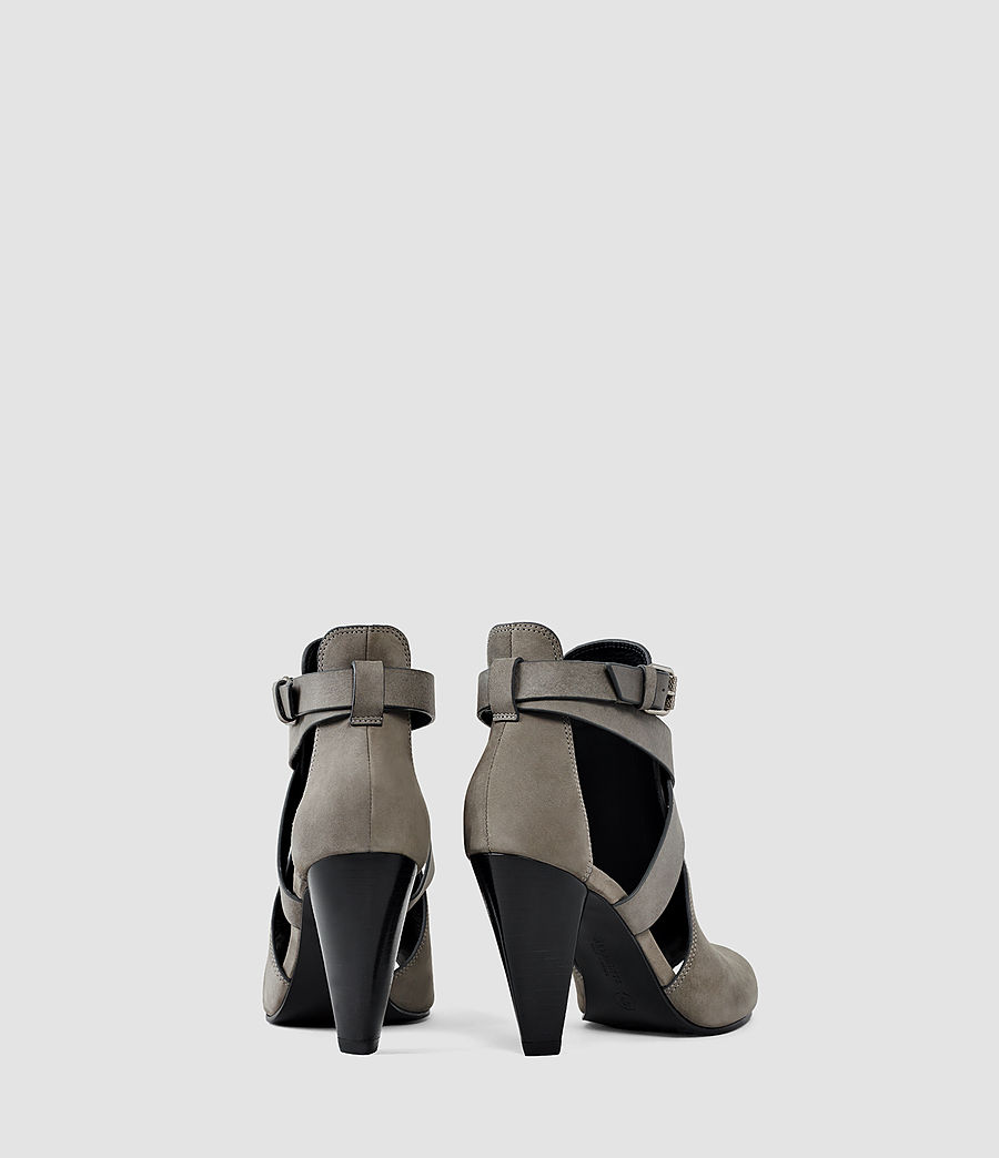 Damen Benny Heel Sandal (dark_grey) - Image 3