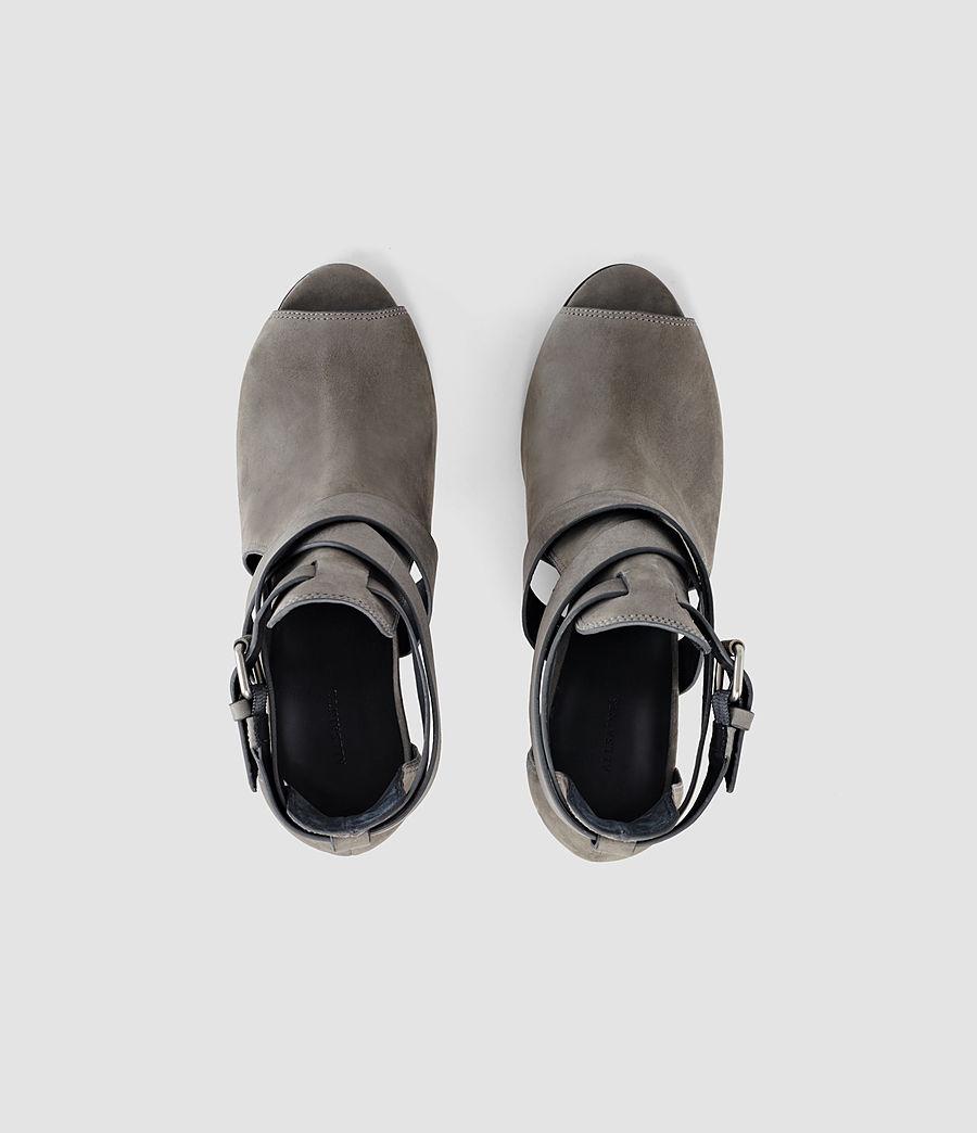 Damen Benny Heel Sandal (dark_grey) - Image 4
