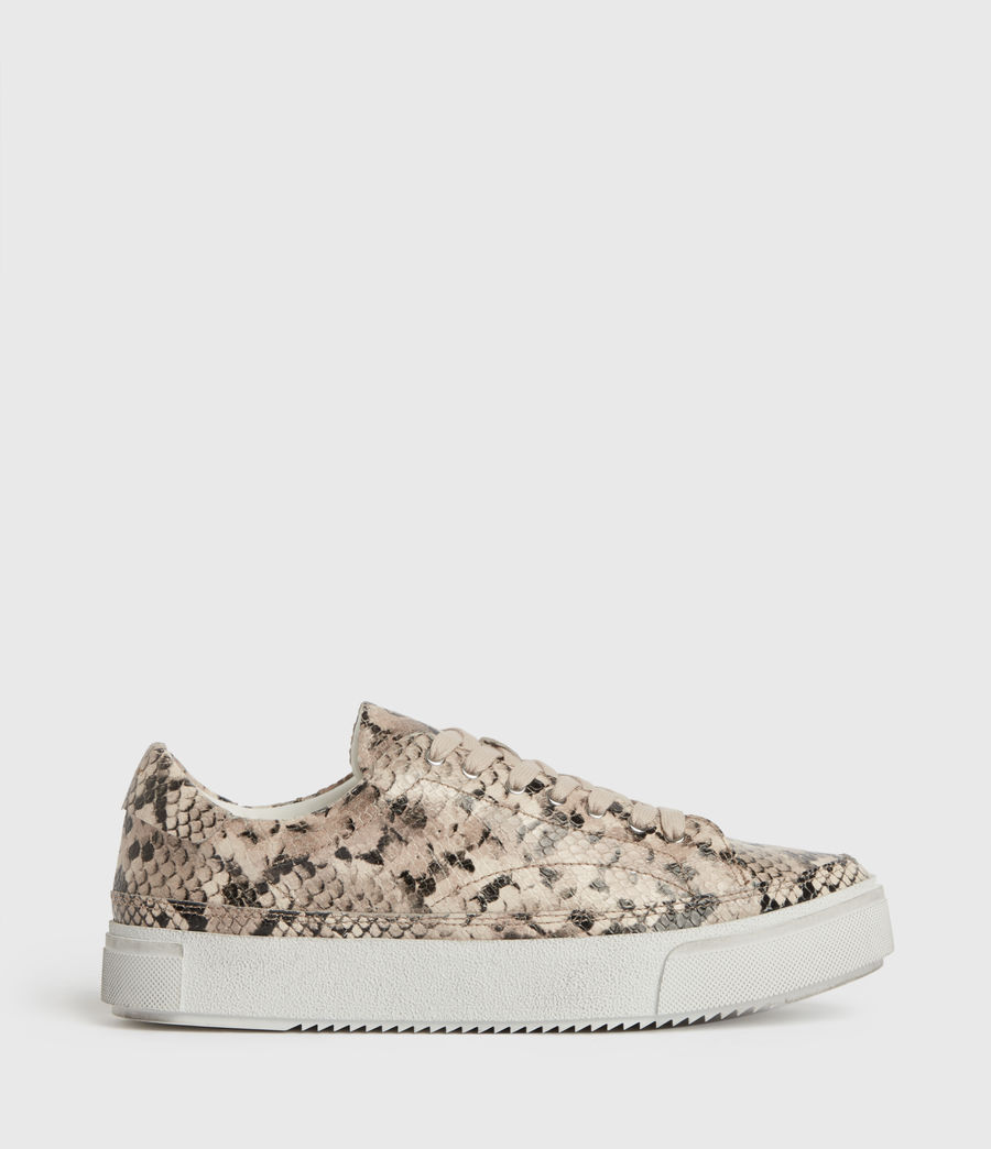 Women's Trish Leather Trainers (blush_pink) - Image 1