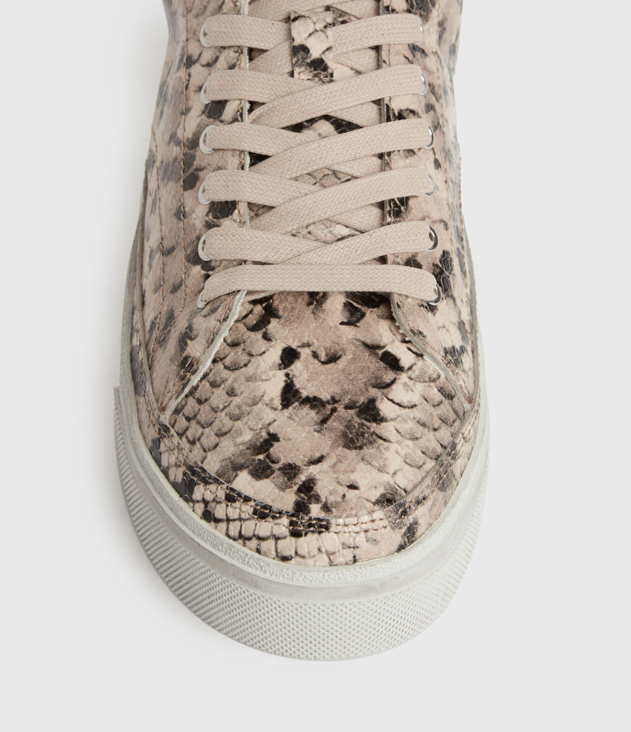 Womens Trish Leather Sneakers (blush_pink) - Image 2