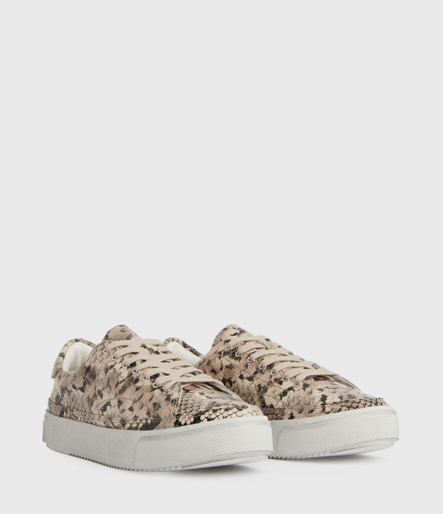 Womens Trish Leather Sneakers (blush_pink) - Image 3