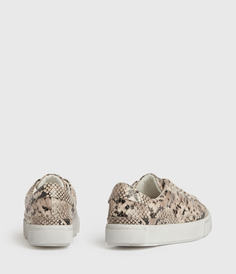 Womens Trish Leather Sneakers (blush_pink) - Image 6
