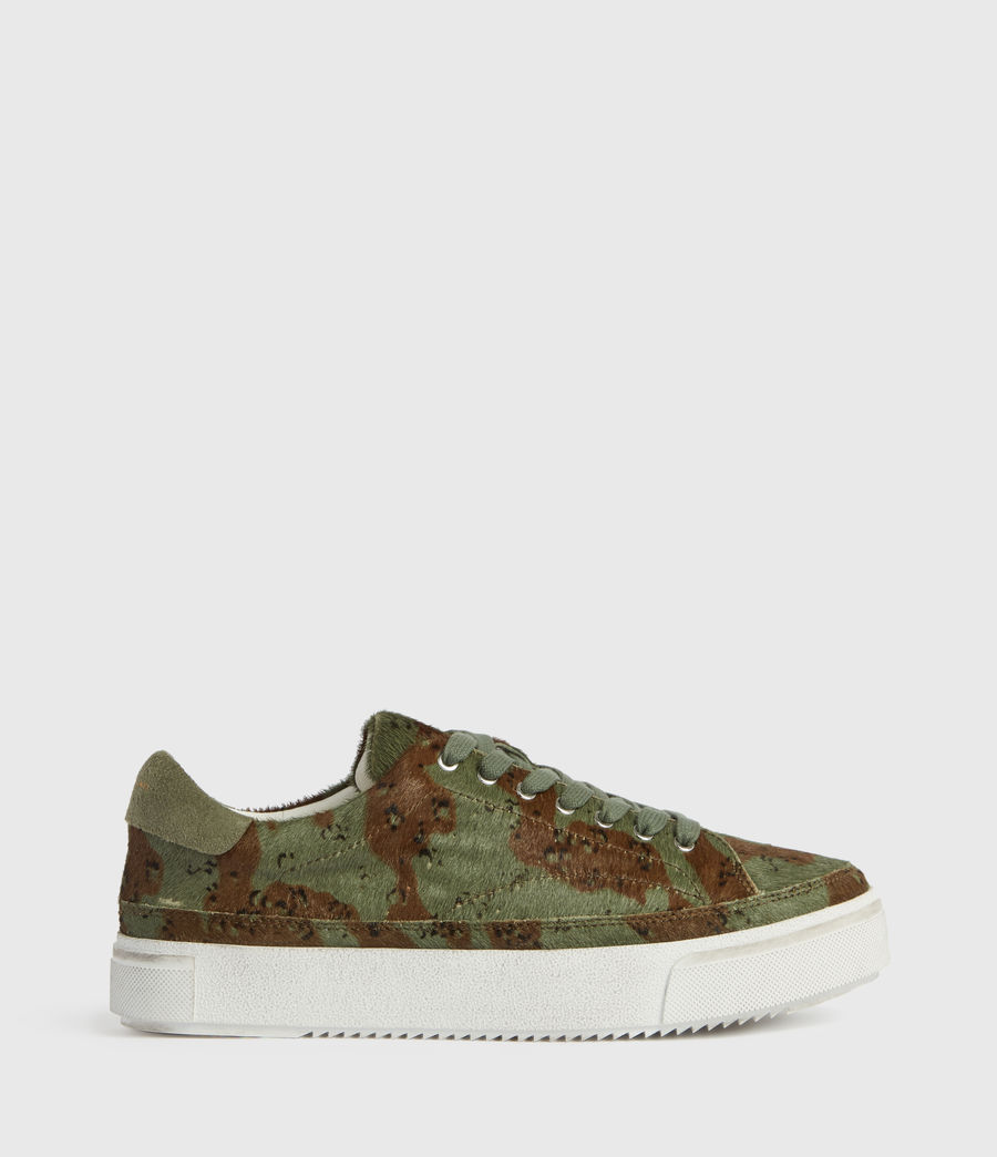 Women's Trish Leather Trainers (camo) - Image 1