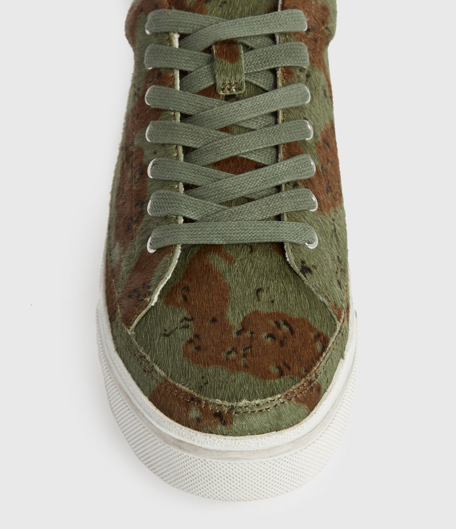 Womens Trish Leather Sneakers (camo) - Image 2