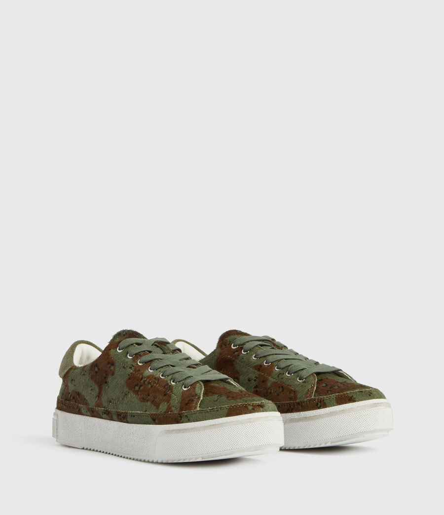 Womens Trish Leather Sneakers (camo) - Image 3