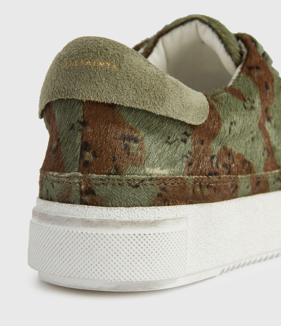 Womens Trish Leather Sneakers (camo) - Image 4