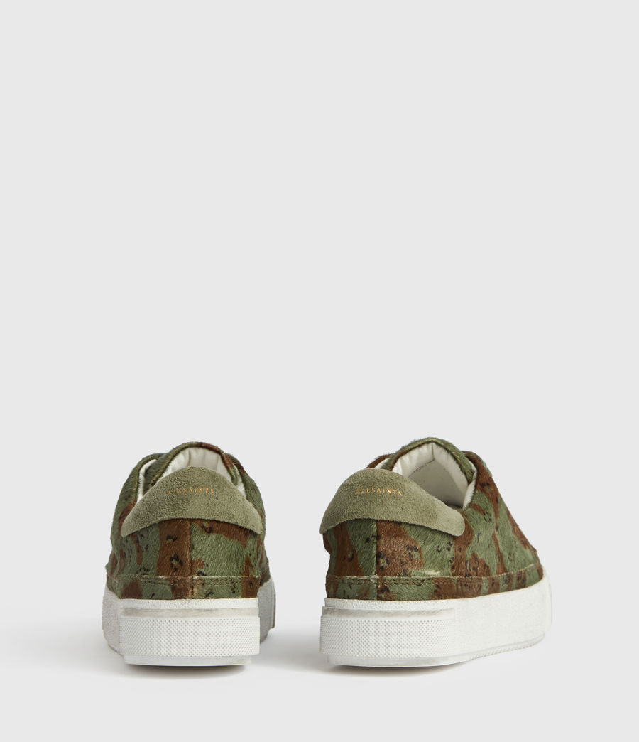 Womens Trish Leather Sneakers (camo) - Image 5